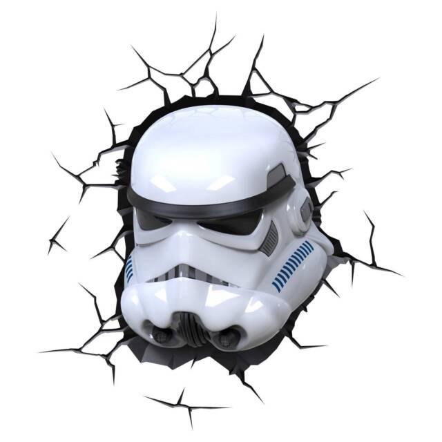 Head 3D FX Deco Wall Nightlight LED Light STAR WARS ~ STORM TROOPER ~  Helmet