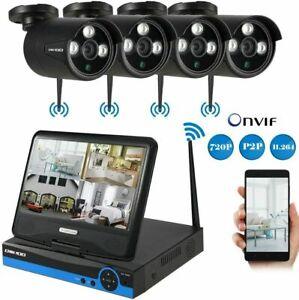 Kit-Videosorveglianza-con-4-Telecamere-MONITOR-LCD-10-1-WIFI-DVR-NVR-Full-HD