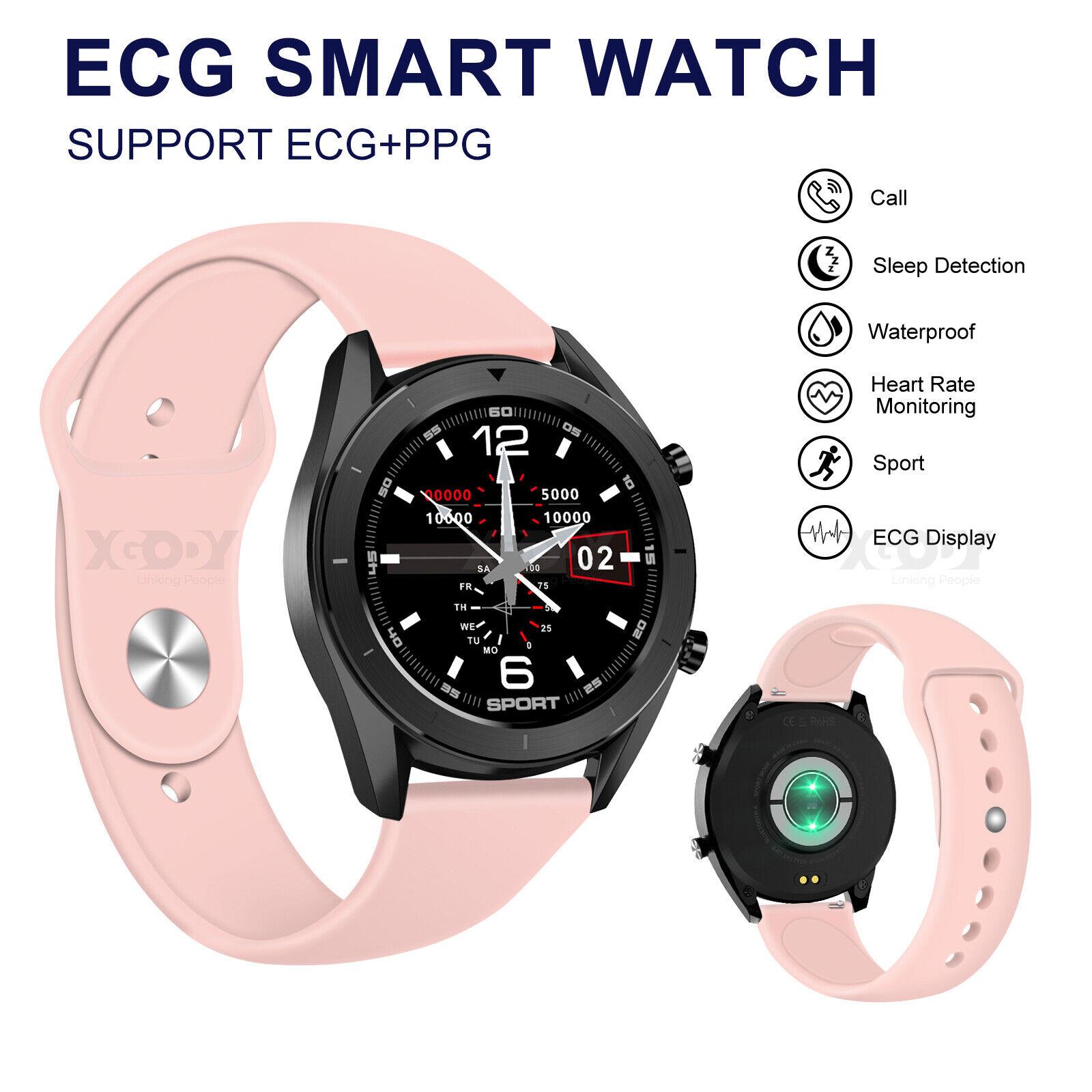 XGODY Women Girls Smart Watch ECG+PPG Heart Rate Oxygen Blood Pressure IP68 US blood Featured girls heart oxygen pressure rate smart watch women xgody