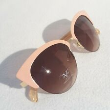 NEW women's VERSACE 1969 ITALIA pink semi rimless cat eye sunglasses