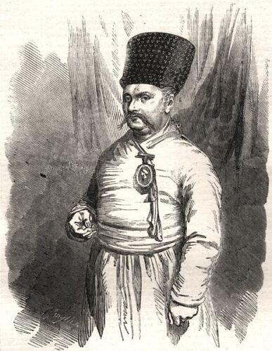 1856 antique print Sir Jamsetjee Jejeeboy India