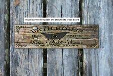 Rustic Wood Sign FLUSH Bathroom Sign Bath Farmhouse Home Decor Poop  PRINT br