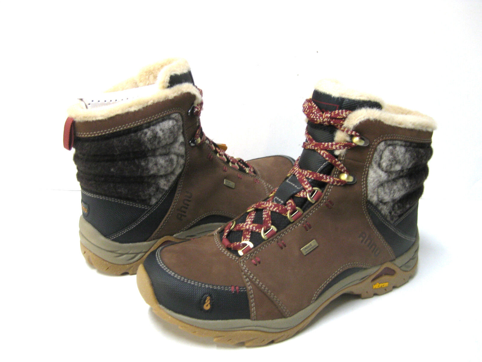 AHNU MONTARA LUXE WP Donna HIKING BOOTS LEATHER CODUROY US 9 //EU 40