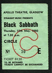 original 1980 black sabbath dio concert ticket stub glasgow heaven and hell ebay. Black Bedroom Furniture Sets. Home Design Ideas