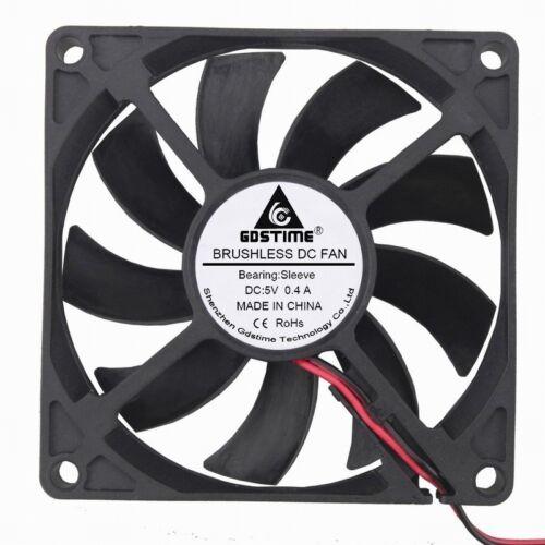 10 Pcs 5V 8cm 80mm 80x80x15mm 2pin Brushless Computer Case Cooling Cooler Fan