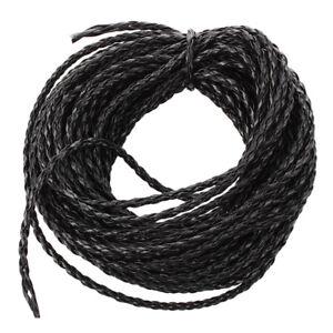 1X-Gewebe-Schwarzer-Lederband-3-mm-fuer-Halskette-Armband-F5Y6-DA