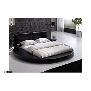 Modern contemporary unique black queen platform round - Black queen bedroom furniture set ...