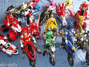 POWER-RANGERS-VEHICLES-motor-cycle-figures-RANGER-GRATUIT-UK-ENVOI