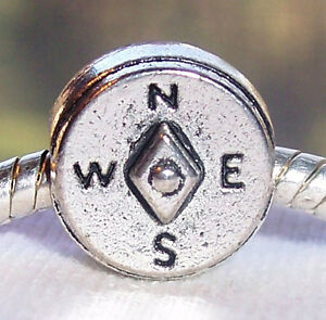 Compass-Hiking-Travel-Camping-Trip-World-Traveler-Charm-for-European-Bracelets