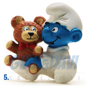 Details about PUFFO PUFFI SMURF SMURFS SCHTROUMPF 2 0205 20205 Baby Bimbo  con Orsetto 5B