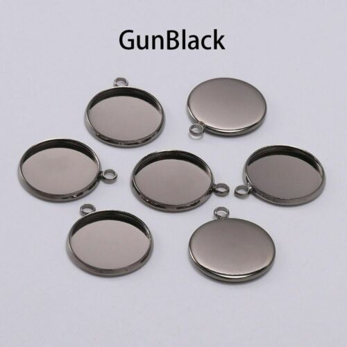 10 12 16 mm Round Cabochon Base Tray Bezels Blank Setting Supplies For Jewelry