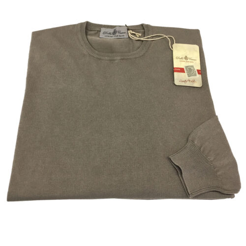DELLA CIANA maglia uomo girocollo colore mastice 100/% cotone MADE IN ITALY
