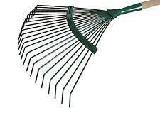 Laubrechen 22 Zinken Metal Laubharke Rechen Rasenrechen Harke 44 cm breit