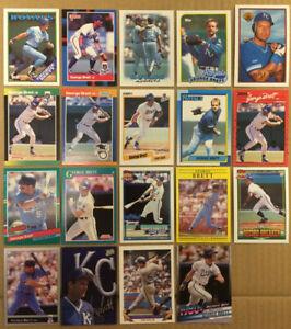 George-Brett-LOT-of-30-inserts-base-cards-NM-HOF-Kansas-City-Royals-1988-2020