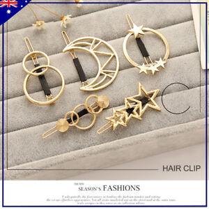 Fashion-Women-Metal-Moon-Circle-Charm-Hairpin-Hair-Clip-Elegant-Hair-Accessories