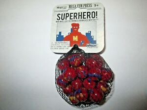 Red Panda Net Bag Of 24 Player Mega Marbles /& 1 Shooter-Instructions /& Facts