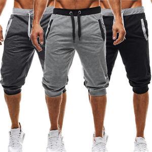 14418034a3e1 Men s Sweatpants Casual Summer Shorts 3 4 Short Sport Jogger Pants ...