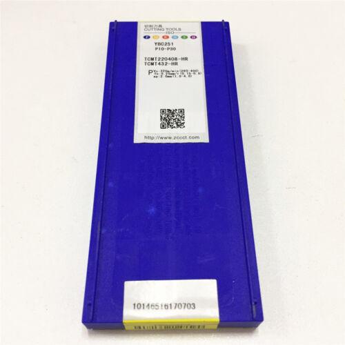 10pcs ZCC.CT TCMT220408-HR YBC251 TCMT432-HR NEW Carbide Inserts