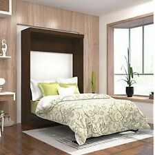 Bestar Boutique Full Wall Bed In Chocolate, Creates Functional Living Space