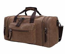 Large Capacity Canvas Unisex Travel Duffel Bag Shoulder Handbag Weekend Bag