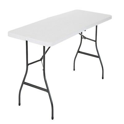 Cosco Centerfold Folding Table Home 6 Foot Portable Office Plastic Party White 44681346972 Ebay