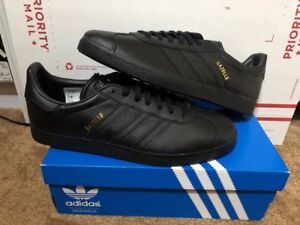 low priced 3096f c33e8 Image is loading New-adidas-Gazelle-Core-Black-Gold-Size-11-