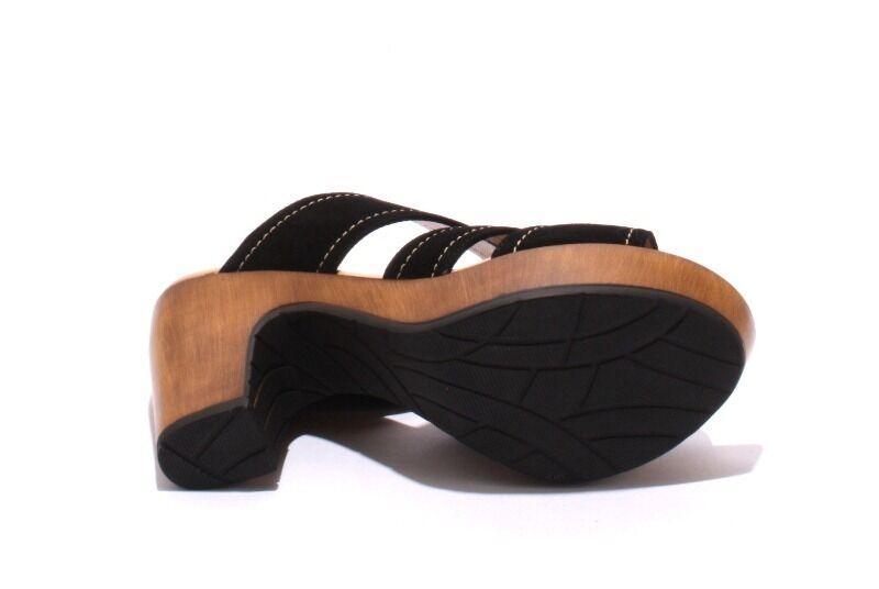 MOT-CLe 7006 BLack Suede Strappy Platform Platform Platform Slides Sandals 36   US 6 61ac81