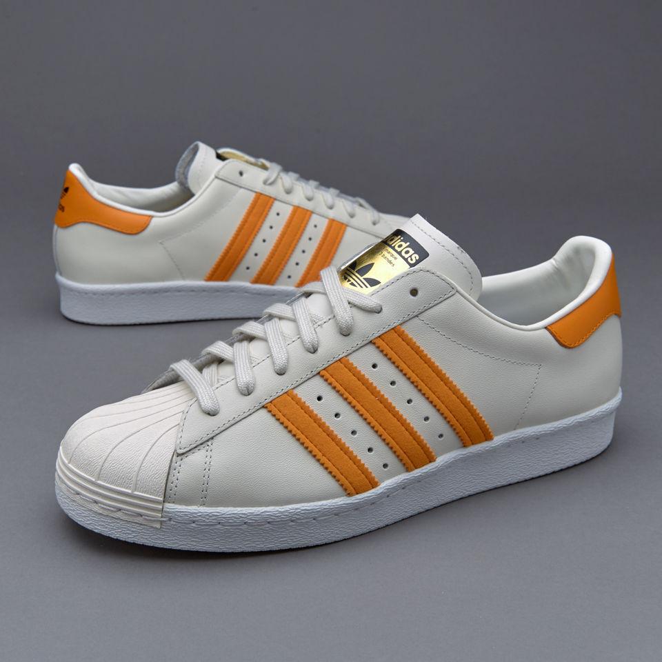 Adidas Original Superstar 80 s75842 zapatos de hombre 8.5 beige naranja zapatillas 8 8.5 hombre 9 b82a61