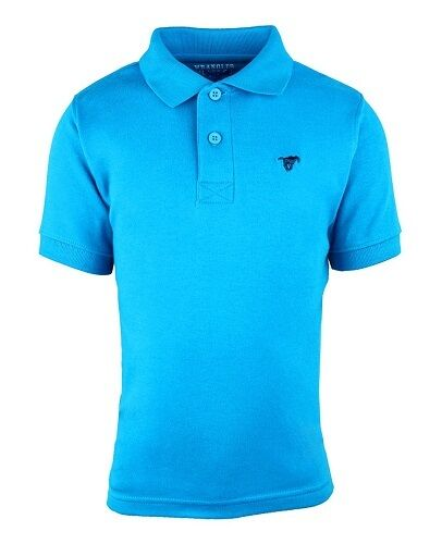 NEW BOYS KIDS WRANGLER POLO SHIRT BLUE GREEN RED CHEAP SALE AGE 2 3 4 5 6 7 8 9