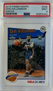 2019-20-NBA-Hoops-Tribute-Winter-Zion-Williamson-Rookie-RC-296-Rare-PSA-9
