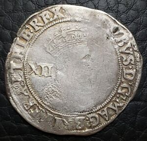 Silver-1604-05-England-Great-Britain-Shilling-James-I-Lis-MM-S-2646
