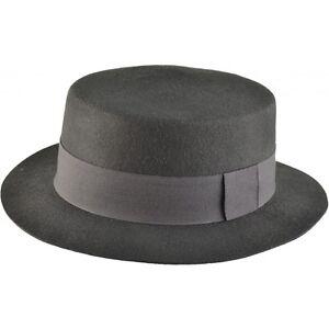 Caricamento dell immagine in corso NERO-LANA-cappello-di-paglia-cappello -100-FELTRO- 99cb9a7e343d