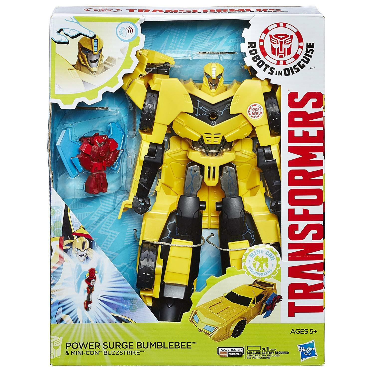 Transformers Robots in Disguise Power Surge Bumblebee and Mini Con Buzzstrike