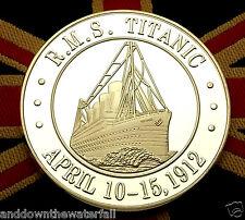 TITANIC MONETA D'ARGENTO INGLESE British MEDAGLIA NAVE OCEAN WHITE STAR LINE Bandiera Londra