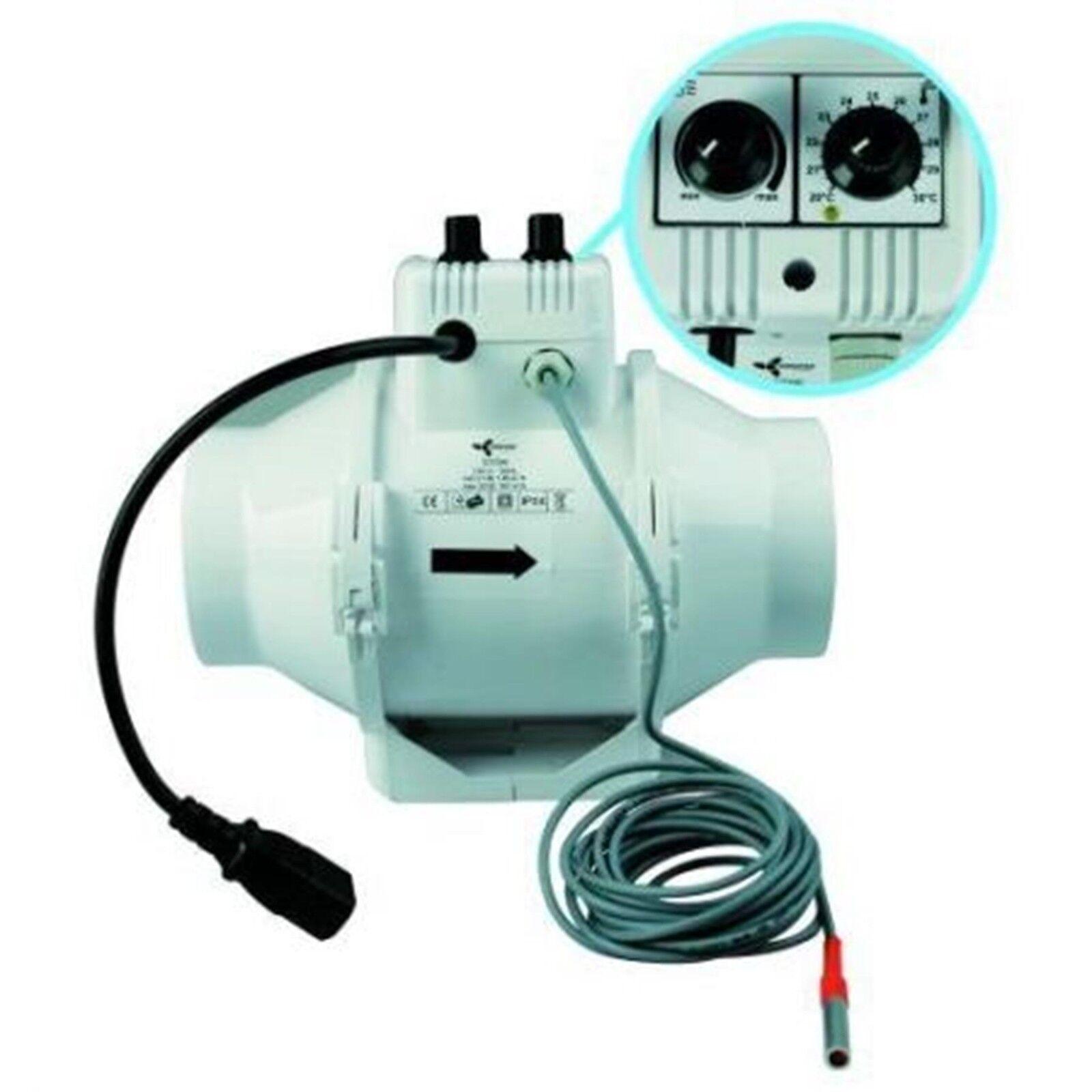 Mixed In-Line 100 mm 100   187 m³ Lüfter  Thermostat Rohrlüfter Rohrventilator     | Kompletter Spezifikationsbereich  | Schönes Aussehen  | Online Shop Europe
