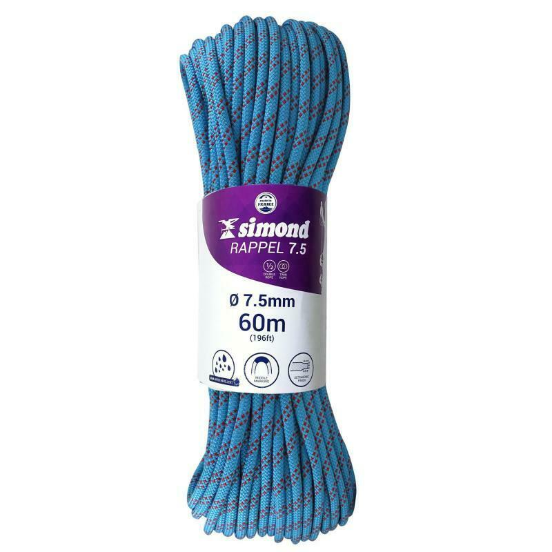 SIMOND 7.5 mm x 60 m Abseiling Rope - bluee