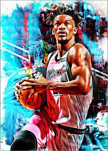 2021-Jimmy-Butler-Miami-Heat-Basketball-2-25-Art-Print-Card-By-Q