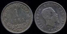 1 Lira Valore AG 1863 M  conservazione MB