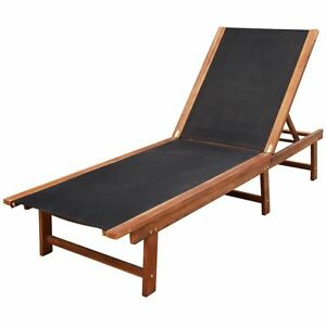 Image Is Loading Outdoor Sun Lounger Chaise Garden Chair Patio Recliner