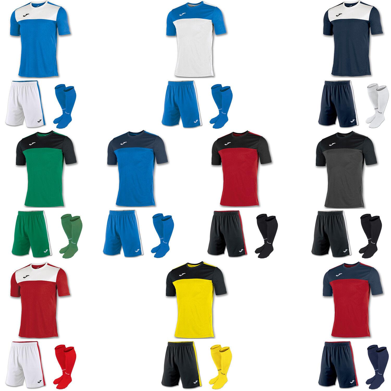 Joma ganador Camisas Mangas Cortas Kit de fútbol, pantalones cortos, Calcetines Niños, Junior, Juventud