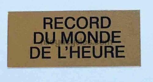 Mavic Record Du Monde Decal
