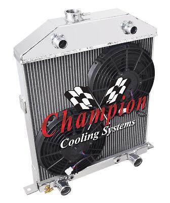 1942-1948 Ford Coupe Aluminum 3 Row Champion Radiator