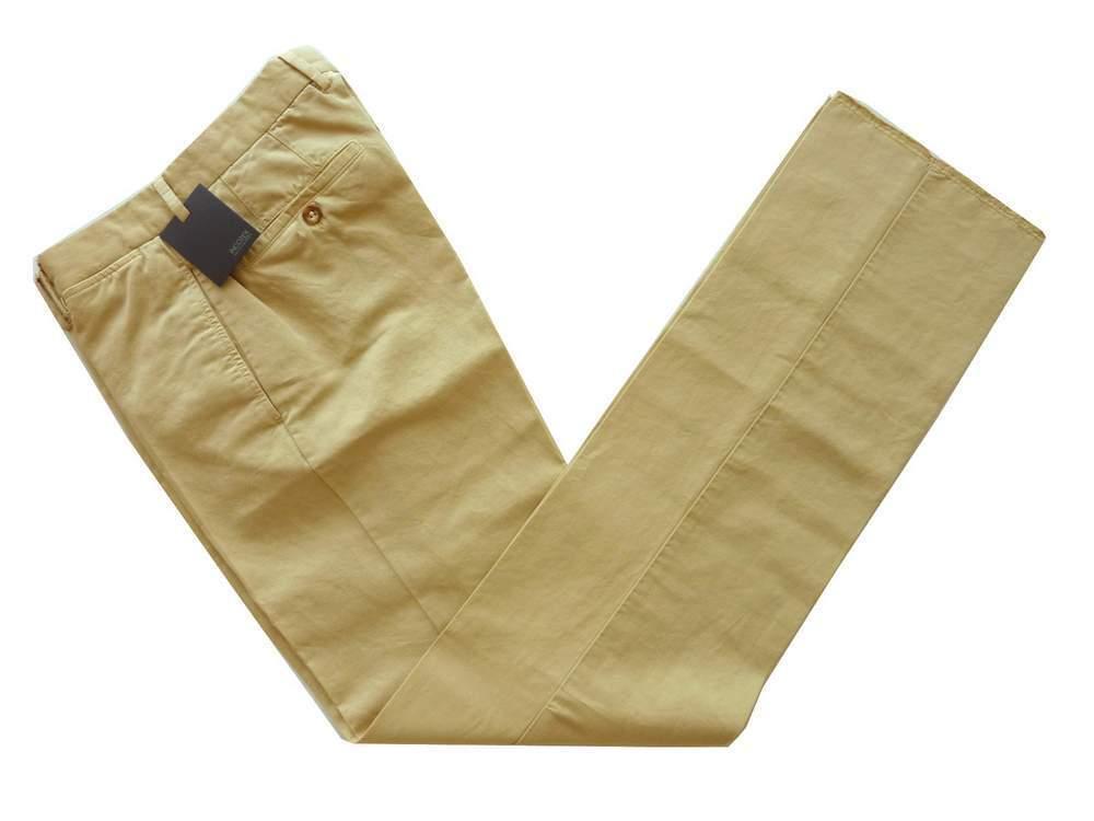 Incotex Trousers  44 Light tan, flat front, cotton linen