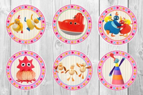 Labels 20 or 6 Twirly Woos Stickers Personalised party bag fillers pink tags