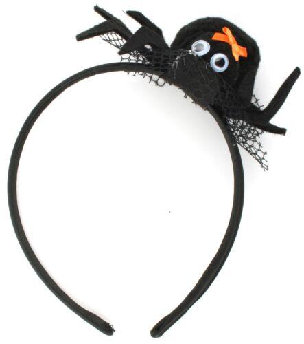 ZEST 5 Halloween Araignée avec bow sur un cobweb Alice bandes noir & orange