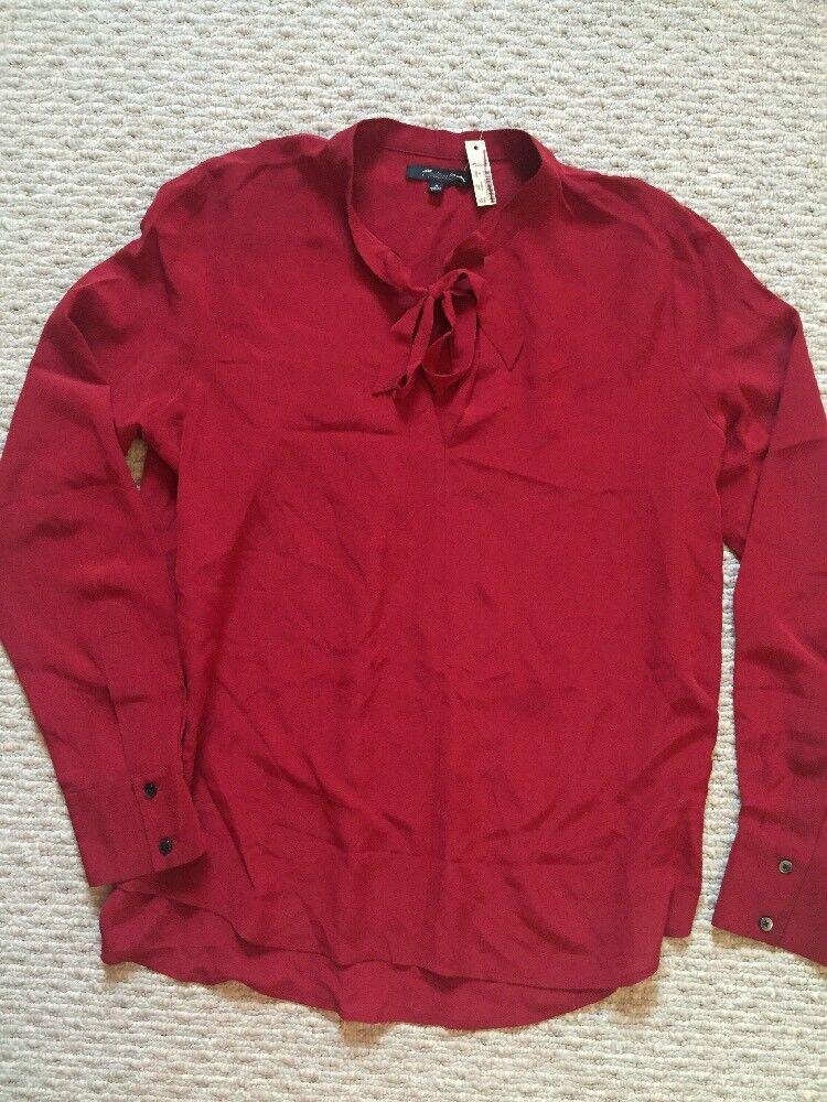 bc46728a7 Madewell Silk Tie Neck Shirt Blouse In Burgundy NWT M Career G0052 Top  Größe nzrvhp2713-Blusen,Tops & Shirts