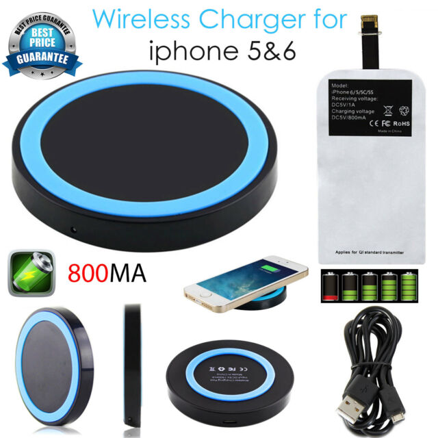Qi Wireless Charger Charging Pad With Receiver For iphone 7/7 plus 6/6 plus 5/5S