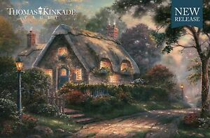 "Lovelight Cottage - Street Light, 8 1/4"" x 5 1/2"" Thomas Kinkade Dealer Postcard"