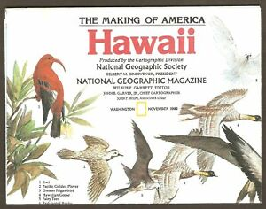 Vintage 1983 National Geographic Map of Hawaii