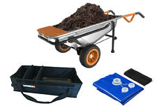 WG050 WORX AeroCart Kit: 8-in-1 WheelBarrow & Tub Organizer w/ Free Water Hauler